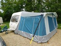 Used Awaydaze Torino Lux 950 colour Blue caravan awning