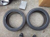 225 40 18 Bridgestone tyres x2 7mm tread