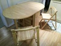 Extendable Oval Table & 4 Chairs - Oak