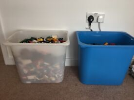 12KG Two Large Ikea tubs of Assorted LEGO + 34 Instruction Manuals