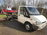 Ford transit lwb chassis cab ideal recovery truck flat bed tripper