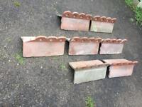 Victorian clay ridge tiles