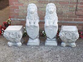 Pair of lions ...garden ornaments