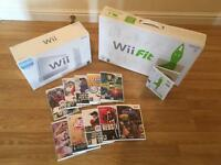 Wii CONSOLE with WII FIT & 11 GAMES £30 no offers