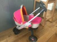 Dolls quinny pushchair and carrycot