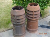 2 Victorian Chimney Pots