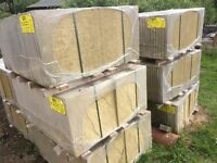 588 PAVING SLABS RYTON RIVEN - BUFF 450 X 450 X 32 UNUSED, STILL ON PALLETS AMENDED PROJECT