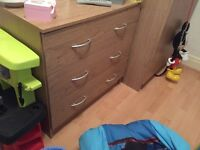 Pine wardrobe & chest of drawers