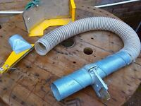 Table saw dust hose, cover
