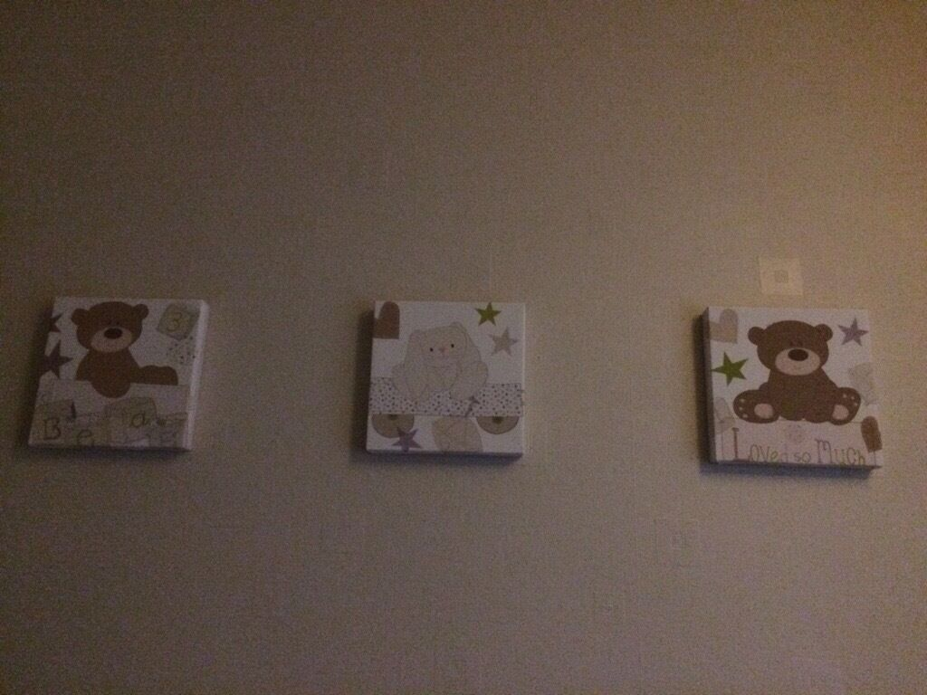 Set of 3 Loved so much canvas