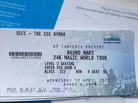 x 1 Bruno Mars 24K Magic Concert Ticket -SSE Hydro 12th April 2017
