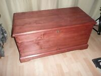 Antique Victorian Pine Blanket Box