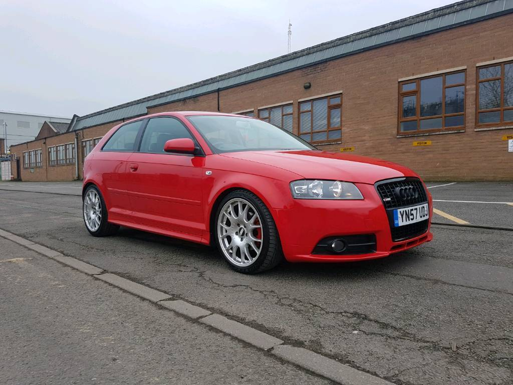 audi a3 2 0 tdi sport 140 brilliant red 3 door s3 looks modified h r bilstein milltek remap in. Black Bedroom Furniture Sets. Home Design Ideas
