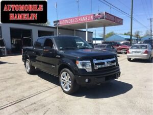 2013 Ford F-150 Limited cuir rouge gps toit mags