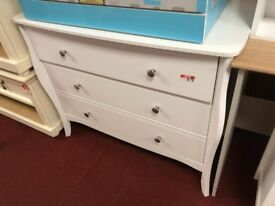 3 drawer chest - curved legs