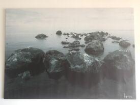 Large IKEA Sea Stone Canvas Art Print 200x140cm