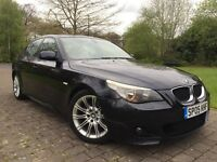 "2005 BMW 530d M sport 220 BHP FSH Auto Widescreen sat nav DVD player 18"" Alloy wheels"