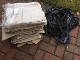 Window cleaning scrim clothes