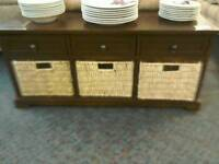 Cabinet with wicker baskets #32668 £25