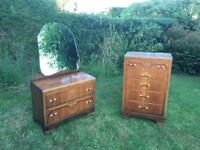 Bedroom furniture: chest of drawers & vanity dressing table