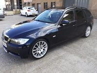 2008 BMW 320I ESTATE M SPORT! FSH! BROWN LEATHERS! BARGAIN ONLY £2750 NO OFFERS!