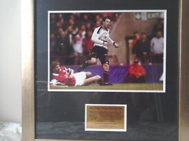 "Ryan Giggs signed framed photo. 20"" x 20"""