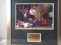 "Ryan Giggs signed framed photo. 20"" x 20"""