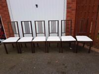 6 Ikea Borje Chairs FREE DELIVERY 306