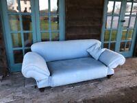 Vintage sofa with adjustable arm angle
