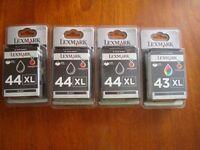 Lexmark 44 XL ( 3 items) and 43 XL ( 1 item