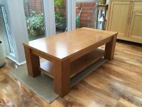 Oak veneer coffee table