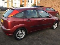 2004 Ford Focus 1.6cc—7 months mot,service history,new clutch,excellent runner,ac,cd,alloys,clean.