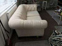 Cream chesterfield 3 seater