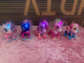 4 Zoomer zupps unicorns and puppy