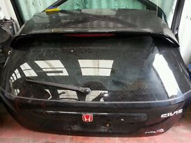 2005 Honda civic type r ep3 complete tailgate with boot spoiler ETC