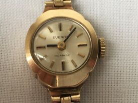 Gold lady watch Everite 9k, mechanical 15mm, 12g