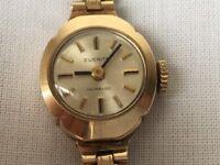 Gold lady watch Everite 9k, mechanical 15mm, 12g