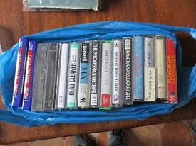 Bag of cassettes tapes.