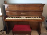 Heywood & Sons: Iron Frame, Upright Grand Full Trichord check action piano