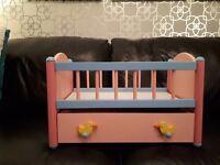 Babyborn toy cot