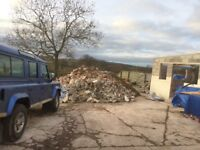 Huge pile of rubble, stone and concrete