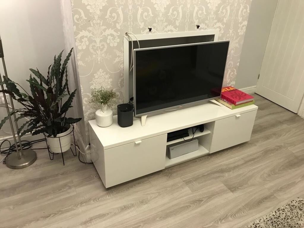 08738d8726f IKEA BYAS TV BENCH HIGH GLOSS 160x42x45cm