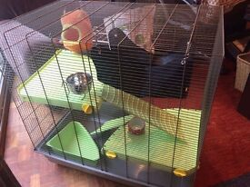 Used rat/small animal cage and accessories, 'Savic Freddy 2 Max', very good condition