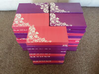50 BRAND NEW GIFT BOXED FASHION PU PURSES - VARIOUS HIGHSTREET STYLES