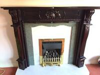 Fire Surround Fire and Marble surround and Hearth