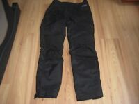 Motorcycle trousers, textile trousers