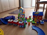 Happyland train, station, bake house, etc.