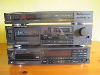 Technics Stack AAA (AMP/TUNER/TAPE DECK/CD-PLAYER)+ROGERS SL6+DUAL TURNTABLE