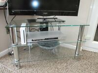 TV Table with 2 Additional Shelves. Excellent Condition.