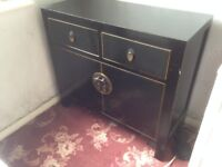 Dresser Drawer cabinet TV dovetail Black